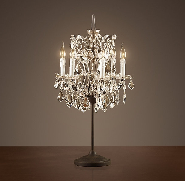 Small Chandelier Table Lamps Regarding Current Download Small Chandelier Table Lamp (View 4 of 10)