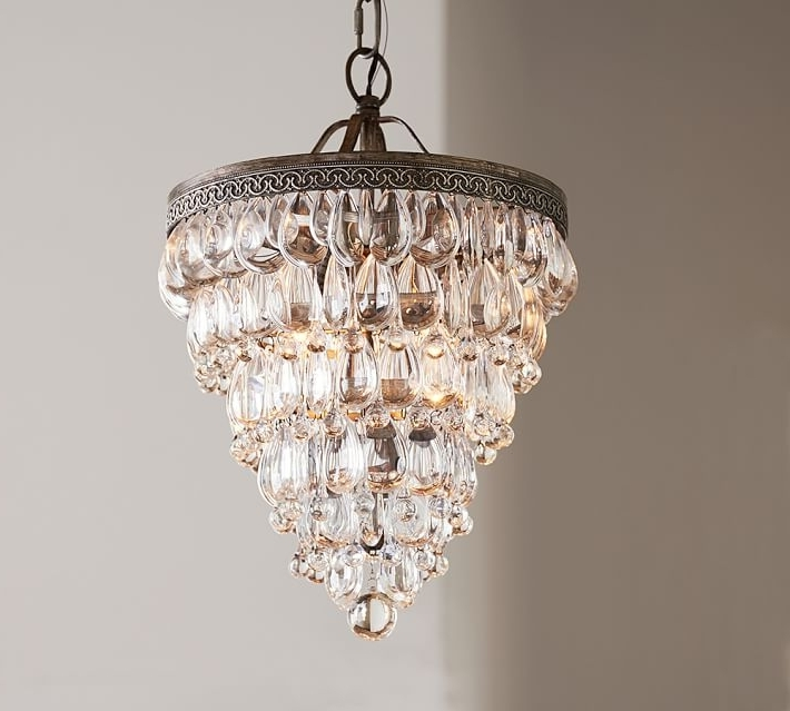 Small Chandeliers With Favorite Small Chandeliers Clarissa Crystal Drop Small Round Chandelier (View 8 of 10)