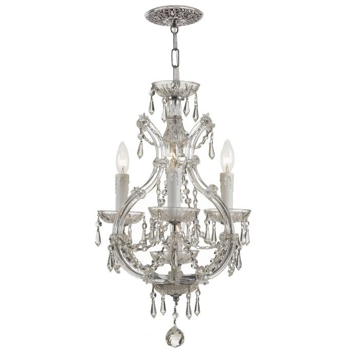 Small Chrome Chandelier Within Latest Chandeliers : Mini Crystal Chandelier Fresh Black Orb Chandelier (View 3 of 10)