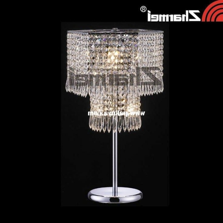 Small Crystal Chandelier Table Lamps For Most Recently Released Crystal Chandelier Table Lamp Gorgeous Within Decor 11 – Kmworldblog (View 6 of 10)