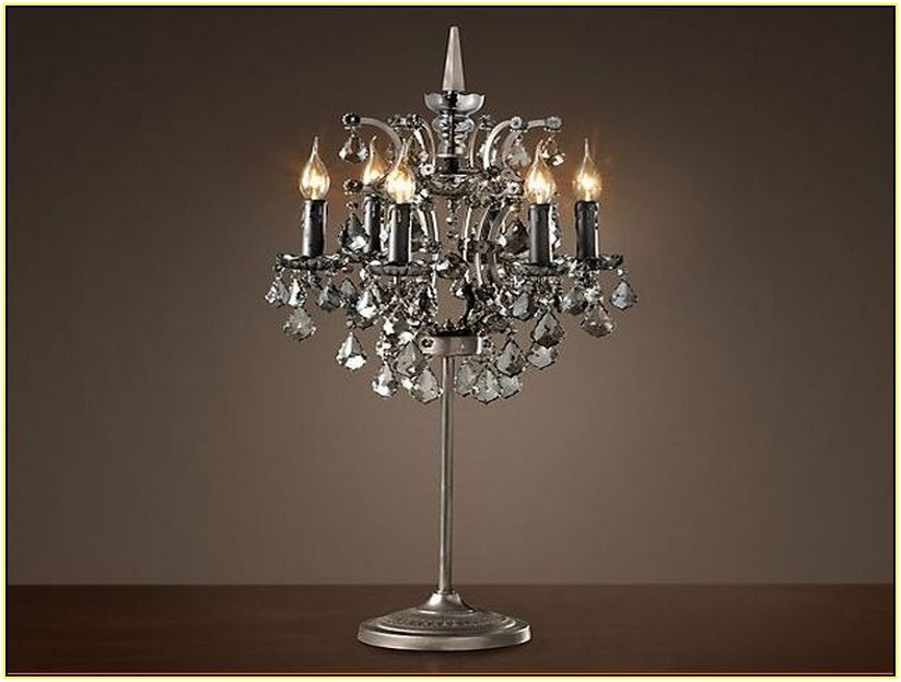 Small Crystal Chandelier Table Lamps For Well Liked Small Crystal Chandelier Table Lamp (View 7 of 10)