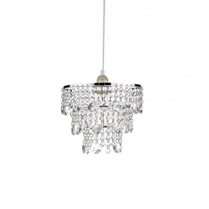 Small Easy To Fit Crystal Chandelier, Non Electric, Cascading Droplets Regarding Preferred Light Fitting Chandeliers (View 8 of 10)
