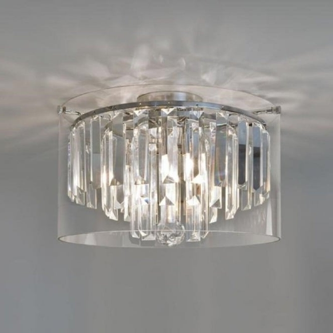Small Flush Fitting Crystal Bathroom Chandelier, Ip44, Double Insulated With Regard To 2018 Flush Chandelier (View 9 of 10)