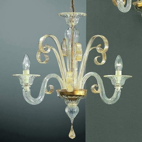 "Small Glass Chandeliers In Preferred Goldoni"" Small Murano Glass Chandelier – Murano Glass Chandeliers (View 7 of 10)"
