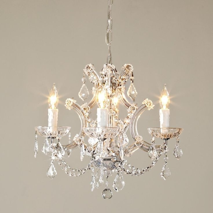 Small Glass Chandeliers Pertaining To Most Up To Date Chandelier (View 10 of 10)