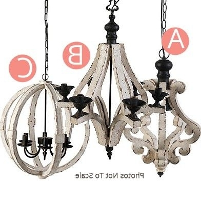 Small Rustic Chandeliers Pertaining To Famous Wood Metal Globe Chandelier,  (View 6 of 10)