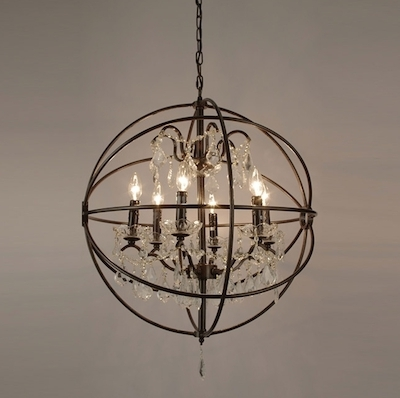 Small Rustic Crystal Chandeliers With Fashionable Rustic Orb Chandelier Good Furniture Small Cheap Chandeliers Mini (View 8 of 10)