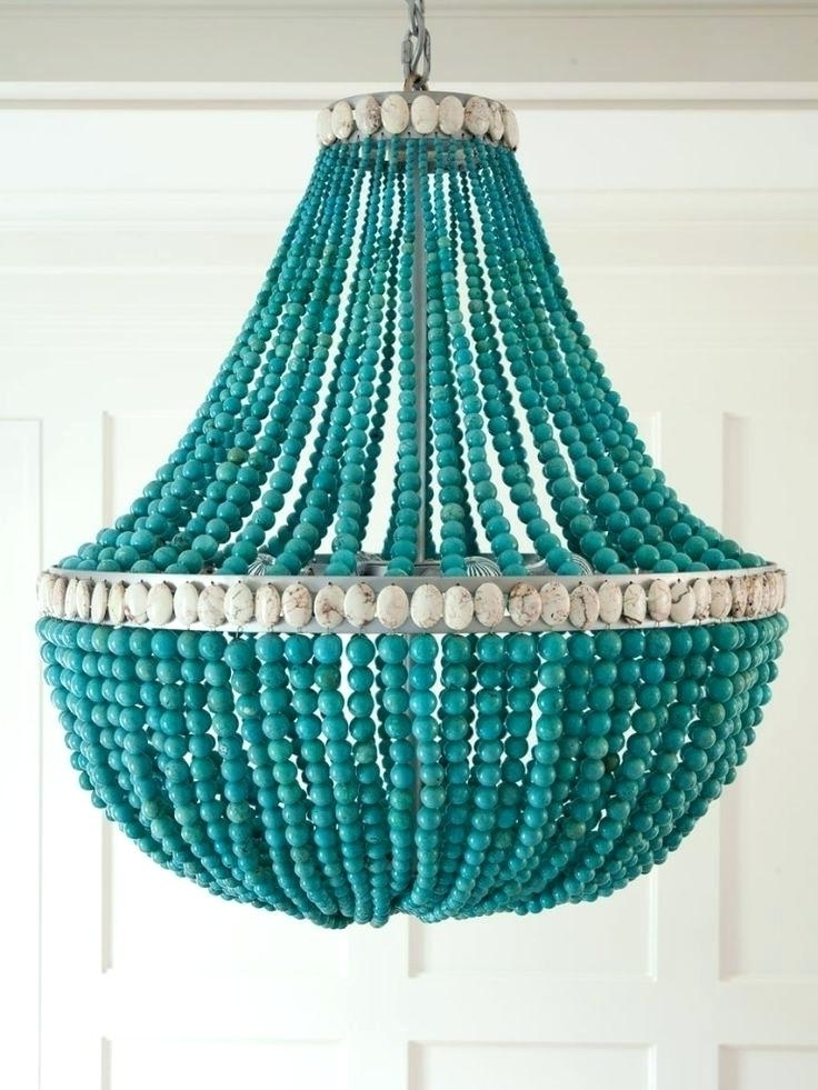 Small Turquoise Beaded Chandeliers Throughout Preferred Turquoise Beaded Chandelier Home Design Ideas Turquoise Beaded (View 9 of 10)