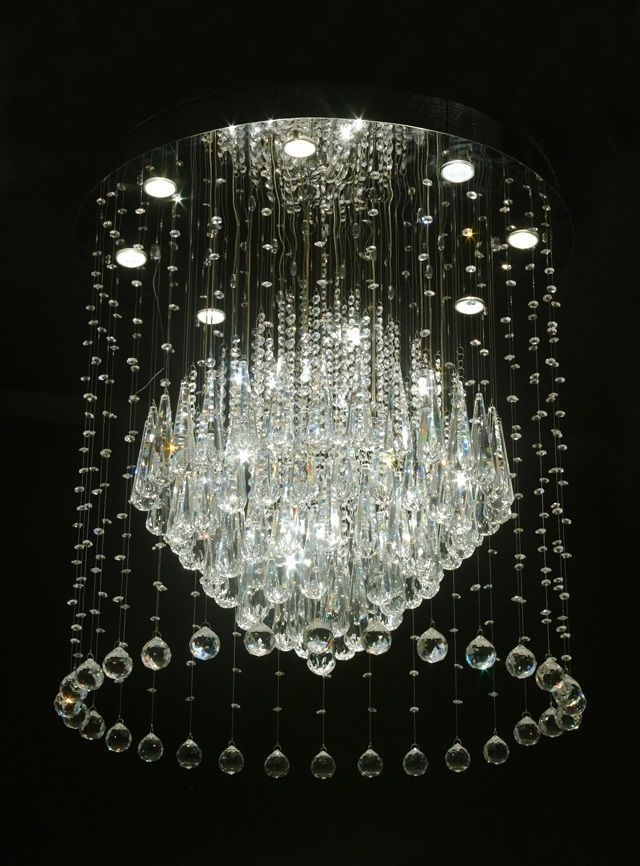 Sparkly Chandeliers With Most Current 194 Best Crystal Chandeliers Images On Pinterest (View 9 of 10)