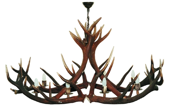 Stag Horn Chandelier For Best And Newest Elen Hunting & Importing Inc (View 4 of 10)