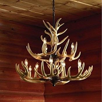 Stag Horn Chandelier With Regard To Well Known Twelve Light Deer Antler Chandelier Lighting – 36In (View 7 of 10)