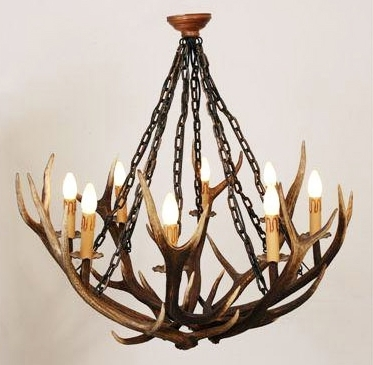 Stag Horn Chandelier With Widely Used Stag Horn Chandelier • Blumuh Design (View 6 of 10)
