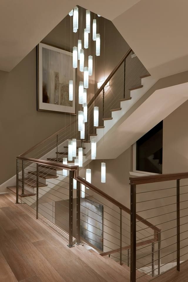 Stairwell Chandelier Lighting Intended For Famous Elegance In Lighting (View 6 of 10)