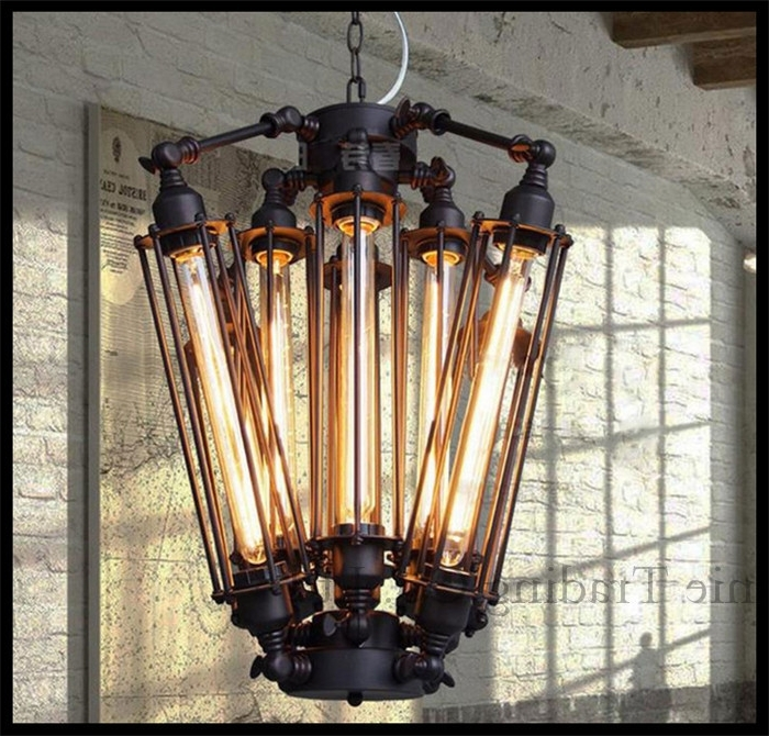 Steam Punk Big 8Pcs E27 T30 Edison Bulbs Lights Chandeliers Art Deco Within Current Large Art Deco Chandelier (View 8 of 10)