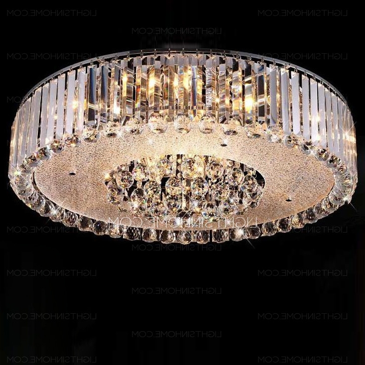 Stunning Crystal Flush Mount Ceiling Light  (View 7 of 10)