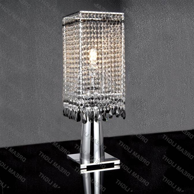 Stylish Faux Crystal Chandelier Table Lamp Table Lamp Mini Crystal Inside Latest Faux Crystal Chandelier Table Lamps (View 10 of 10)