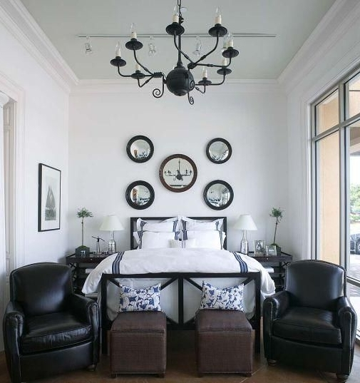 Suzie: Phoebe Howard – Gorgeous Coastal Bedroom Design With Black Within Best And Newest Black Chandelier Bedroom (View 7 of 10)