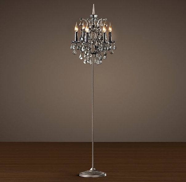 Tall Standing Chandelier Lamps Inside Fashionable 45 Collection Of Standing Chandelier Floor Lamp Throughout Plans  (View 8 of 10)