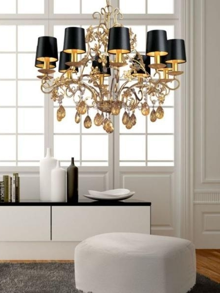 The Aquaria Within Fashionable Black Chandeliers With Shades (View 9 of 10)