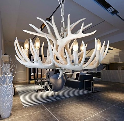 The Uk's In Most Up To Date White Antler Chandelier (View 9 of 10)
