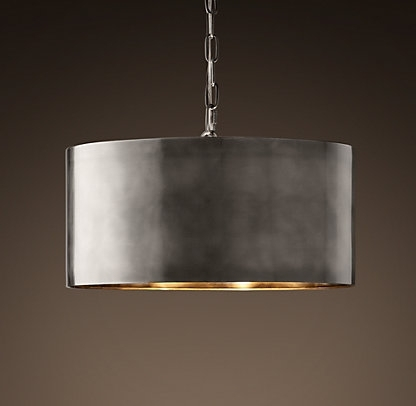 This Antique Metal Drum Pendant Light Would Look Perfect Above My Pertaining To Most Current Metal Drum Chandeliers (View 9 of 10)