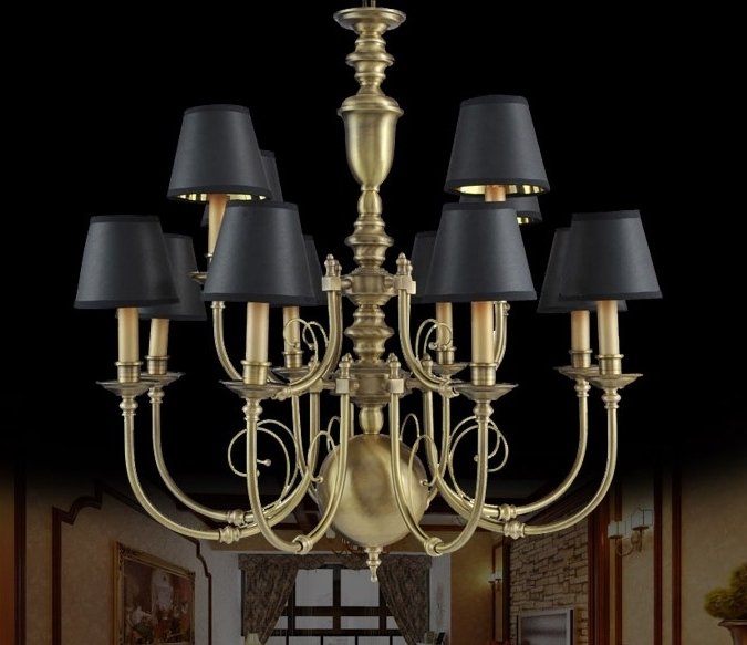 Traditional Brass Chandeliers Pertaining To Preferred Chandelier (View 9 of 10)
