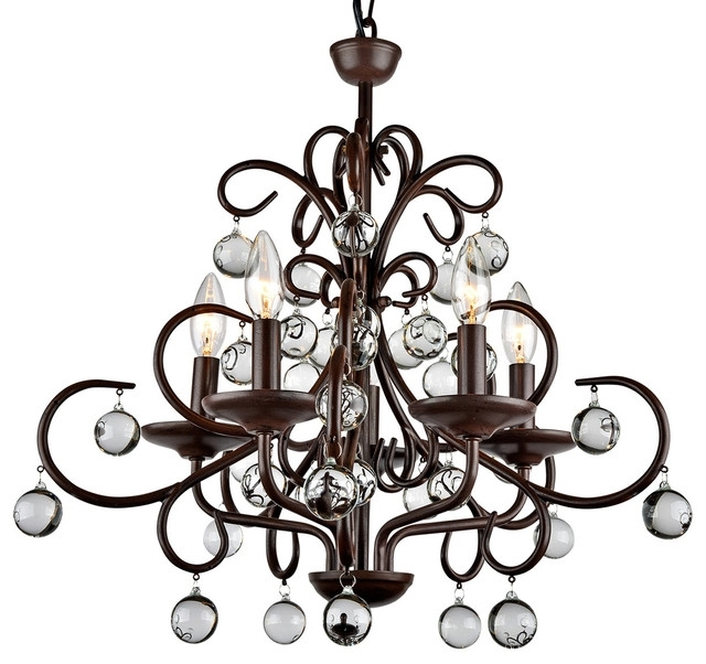 Traditional Chandelier Regarding Most Recently Released Kelly Modern Stylish Crystal 5 Light Chandelier – Traditional (View 4 of 10)