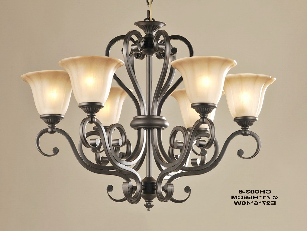Traditional Chandeliers Regarding Most Current Outlet 6 Light Matte Black Iron Traditional Chandeliers (View 8 of 10)
