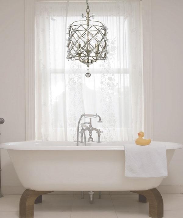 Trendy Chandelier Bathroom Lighting Regarding Make Your Bathroom Amazing Using Bathroom Chandeliers – Pickndecor (View 8 of 10)