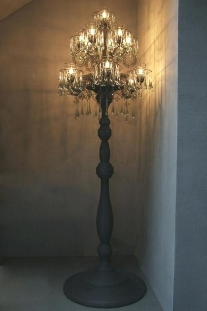 Trendy Floor Standing Chandelier Lamp Crystal Chandeliers For Low Ceilings For Standing Chandeliers (View 10 of 10)