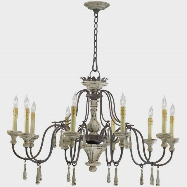 Trendy French Style Chandelier Within Country French Style Chandeliers : Fascinating Ideas For Shabby Chic (View 10 of 10)