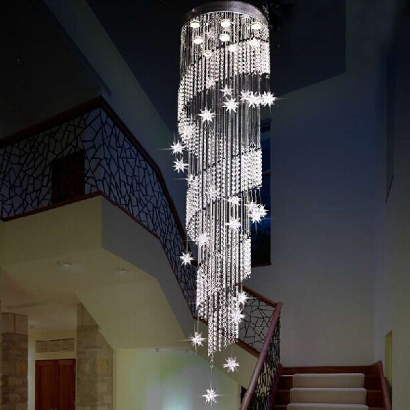 Trendy Fresh Sphere Crystal Chandelier Chandelier Stunning Stairway Within Stairway Chandeliers (View 9 of 10)