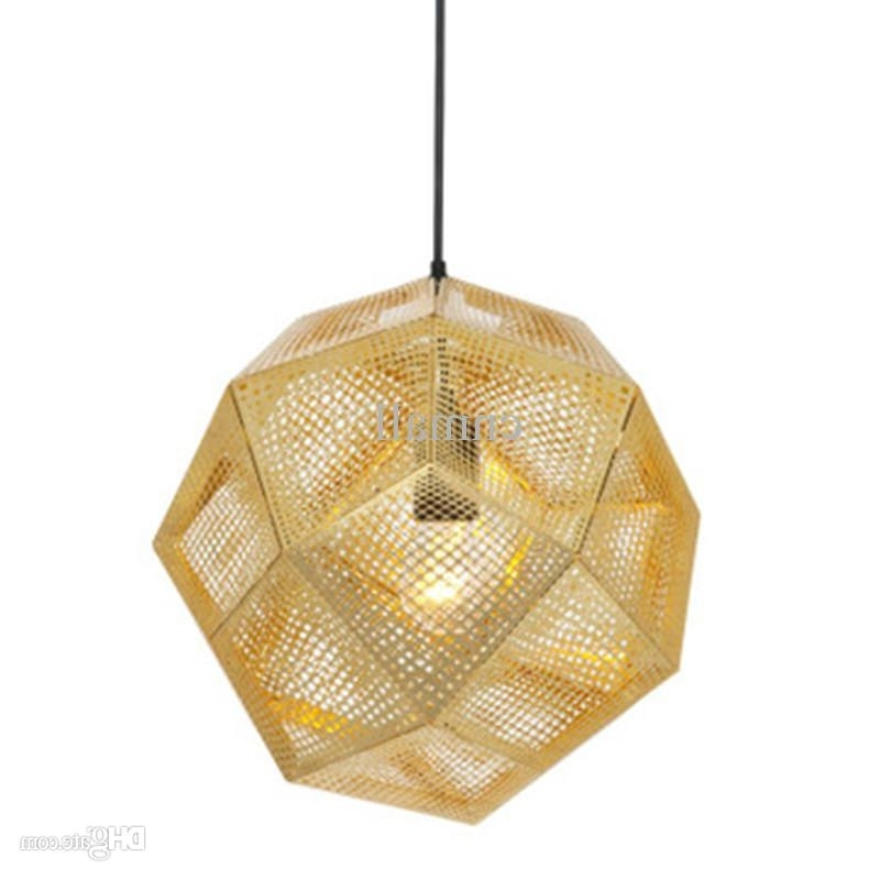Trendy Gold Modern Chandelier Throughout Tom Dixon Etch Light Pendant Lamp Modern Chandelier Ceiling Lamp (View 10 of 10)