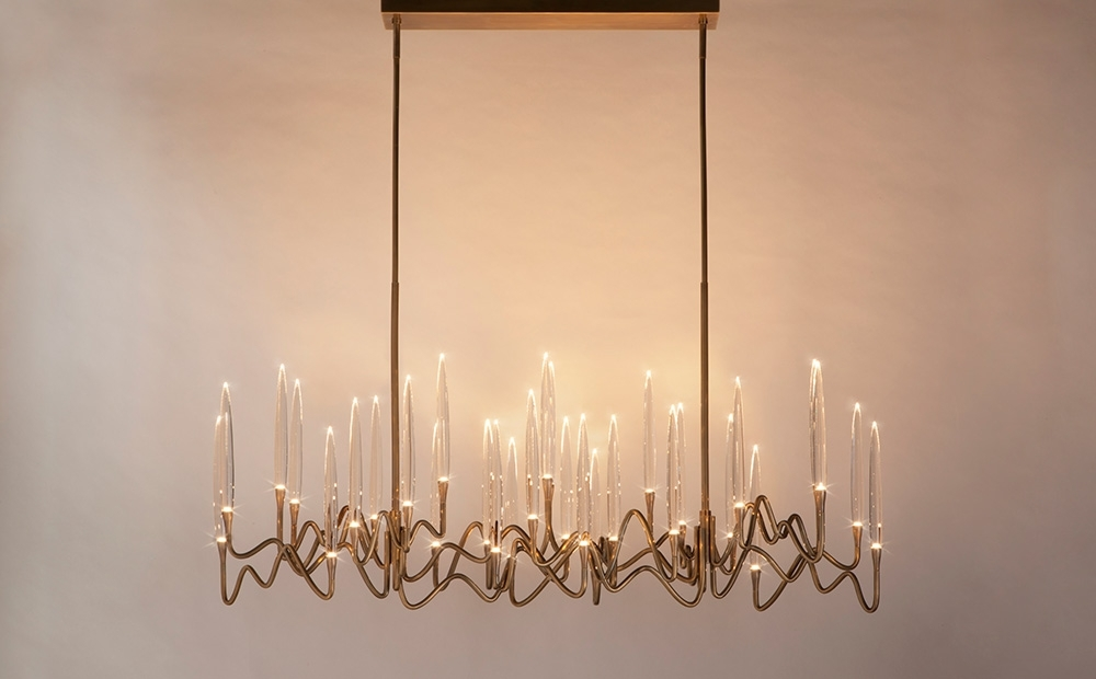 Trendy Il Pezzo 3 Long Chandelier — Il Pezzo Mancante Within Long Chandelier (View 10 of 10)