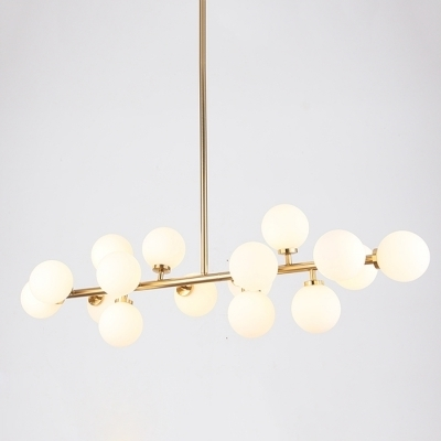 Trendy Lateral Chandelier Globe Modern White – Beautifulhalo With Modern White Chandelier (View 10 of 10)