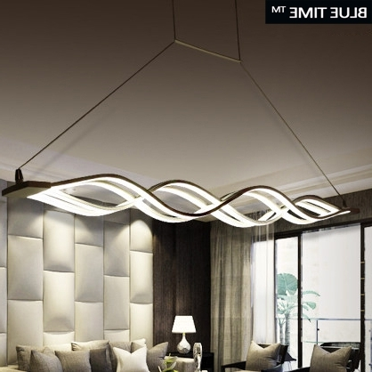 Trendy Modern Chandelier Lighting In Wave Design Chandelier For Dinning Room Black White Chandelier (View 2 of 10)