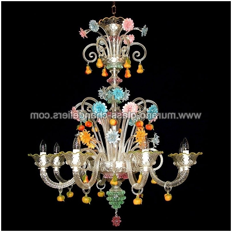 "Trendy Murano Chandelier Within Tripudio"" Murano Glass Chandelier – Murano Glass Chandeliers (View 9 of 10)"