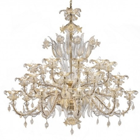 "Trendy Prezioso"" Large Murano Glass Chandelier – Murano Glass Chandeliers In Large Glass Chandelier (View 9 of 10)"