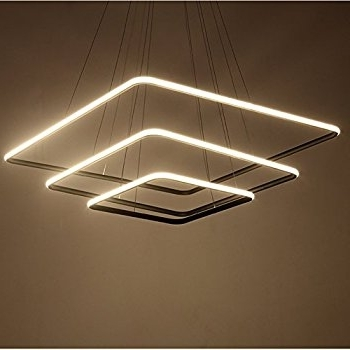Trendy Royal Pearl Modern Square Led Chandelier Adjustable Hanging Light For Modern Led Chandelier (View 10 of 10)
