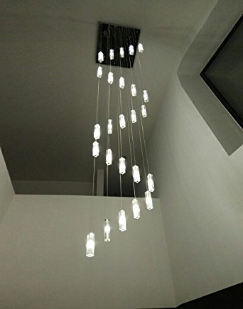 Trendy Stairwell Chandelier Lighting Regarding Poersi Spiral Chandelier Staircase Lighting Spiral Crystal (View 10 of 10)