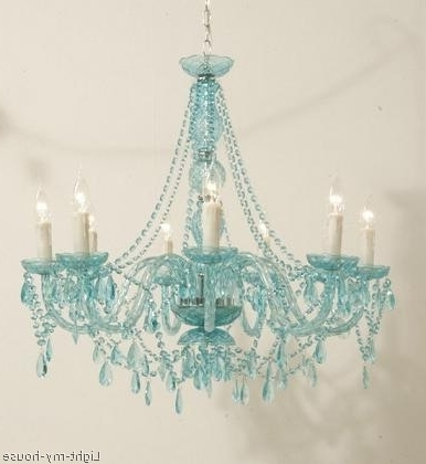 Trendy Turquoise Chandelier Lights Regarding Gorgeous Turquoise Chandelier, Teal, Light Turquoise, Blue Green (View 7 of 10)