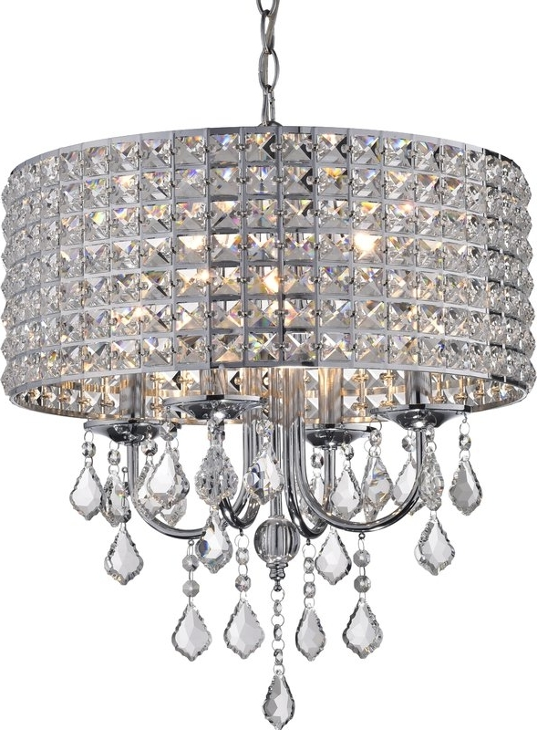 Trendy Willa Arlo Interiors Albano 4 Light Crystal Chandelier & Reviews Pertaining To 4 Light Crystal Chandeliers (View 9 of 10)