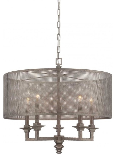 Trendy Yobo Lighting 3 Light Oil Rubbed Bronze Metal Drum Chandelier Inside Metal Drum Chandeliers (View 10 of 10)