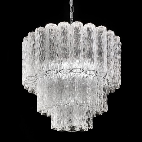 "Tronchi"" Murano Glass Chandelier – Murano Glass Chandeliers Throughout Trendy Glass Chandelier (View 7 of 10)"