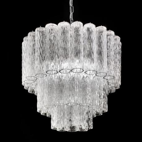 "Tronchi"" Murano Glass Chandelier – Murano Glass Chandeliers Throughout Trendy Glass Chandelier (View 3 of 10)"