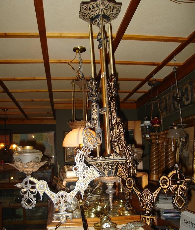 Trotter Antique Lighting Intended For Recent Cast Iron Antique Chandelier (View 8 of 10)