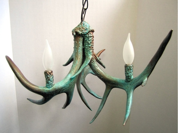 Turquoise Antler Chandeliers Inside Current 88 Best Antler Art Images On Pinterest (View 9 of 10)