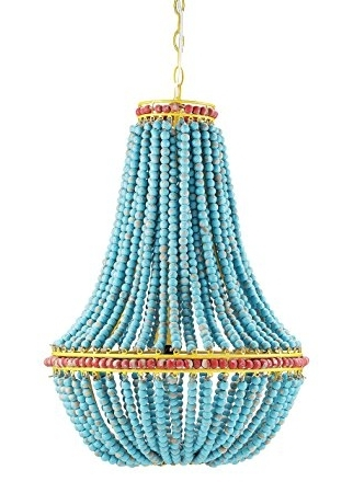 Turquoise Beaded Chandelier Light Fixtures In Well Liked Amazon: Creative Co Op Wood Beaded Chandelier,  (View 5 of 10)