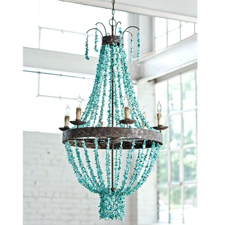 Turquoise Beaded Chandelier Light Fixtures Pertaining To Current Turquoise Beaded Chandelier Light Fixture Lighting Fixtures Nyc – Psdn (View 6 of 10)