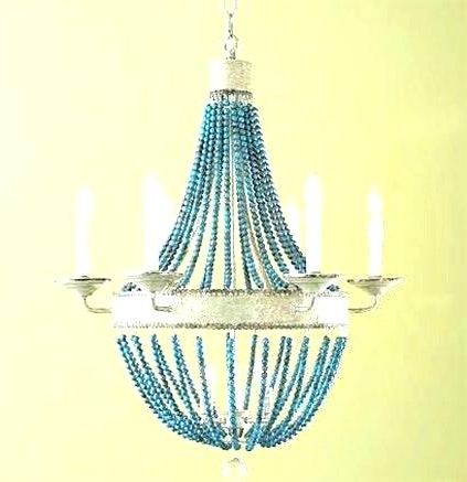 Turquoise Beaded Chandelier Light Fixtures Regarding Favorite Turquoise Beaded Chandelier Light Fixture Small Chandeliers For (View 7 of 10)